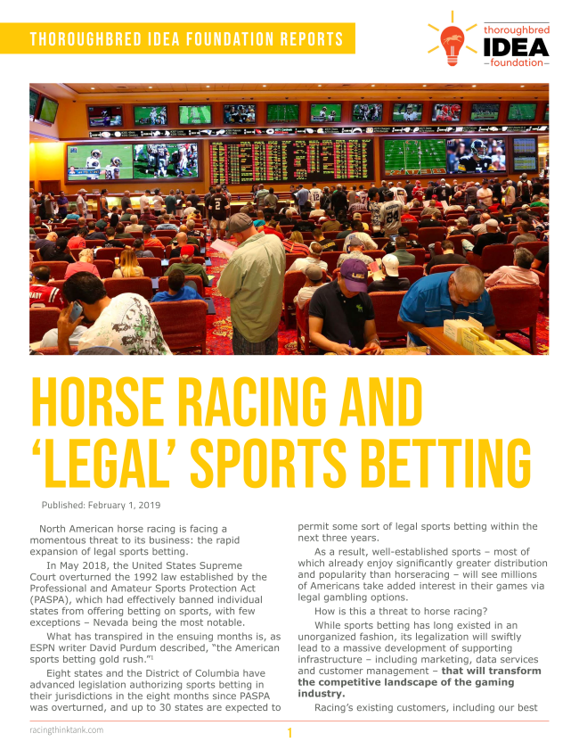 horse racing and sports betting